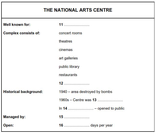 National Arts Centre
